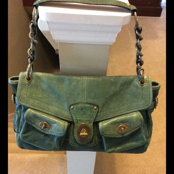 d76bd801bc Coach Handbags - Coach Legacy Satchel Green Distressed Leather